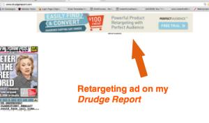 Drudge Retarget ad...