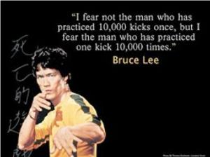Bruce Lee fears...