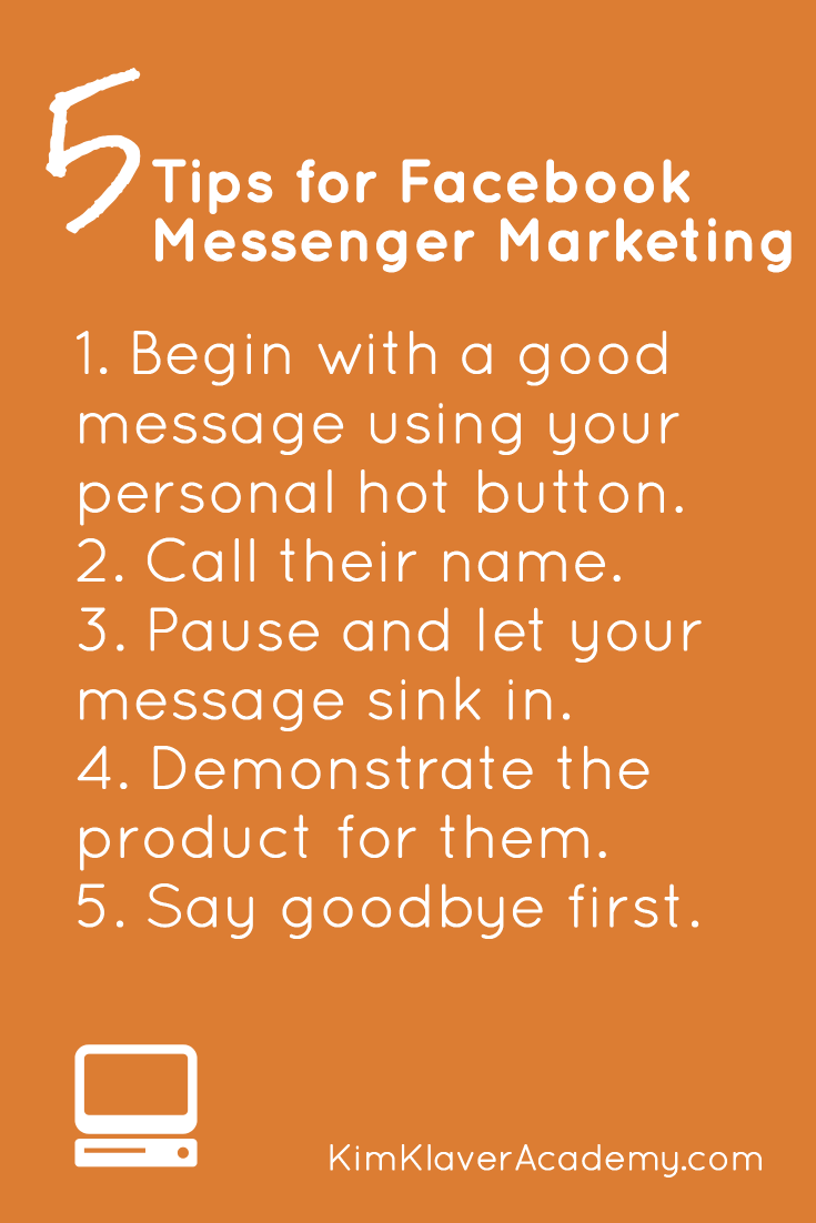 Facebook Messenger Marketing - Pintereset