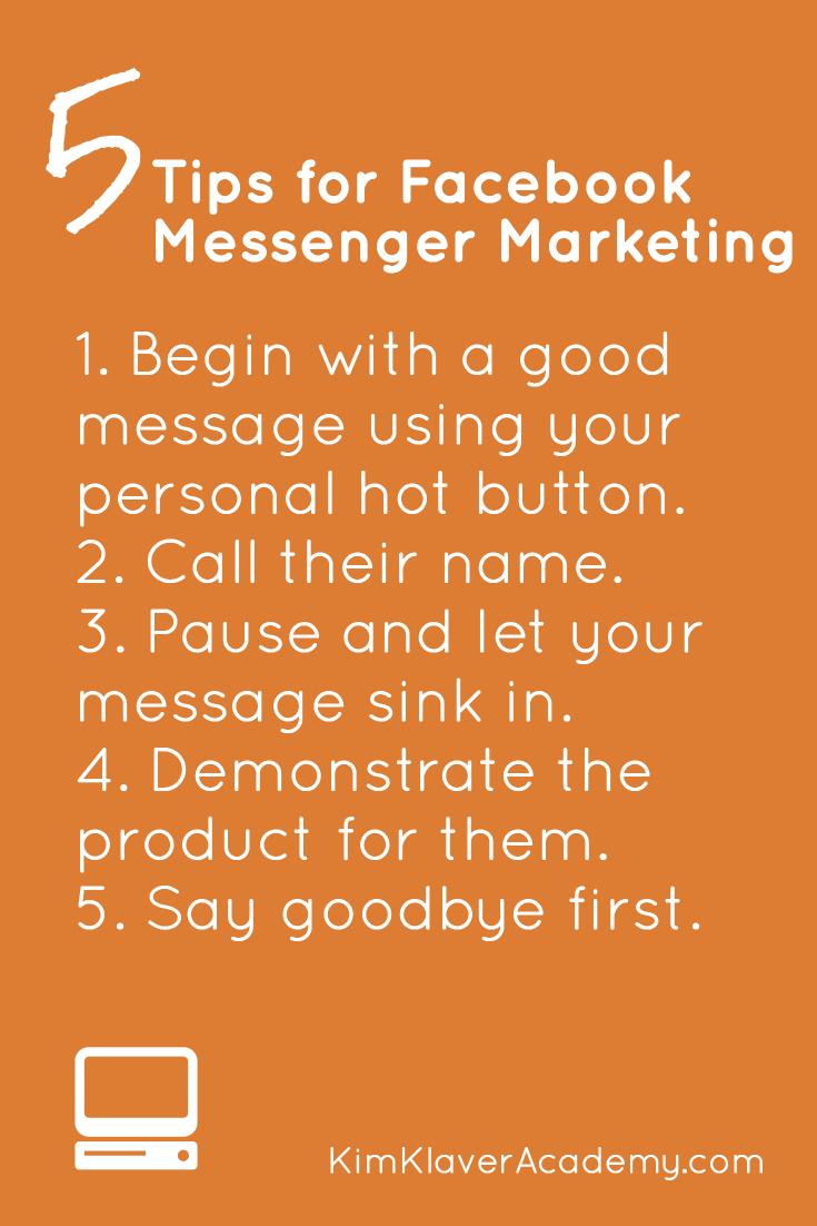 Facebook Messenger Marketing - Pintereset