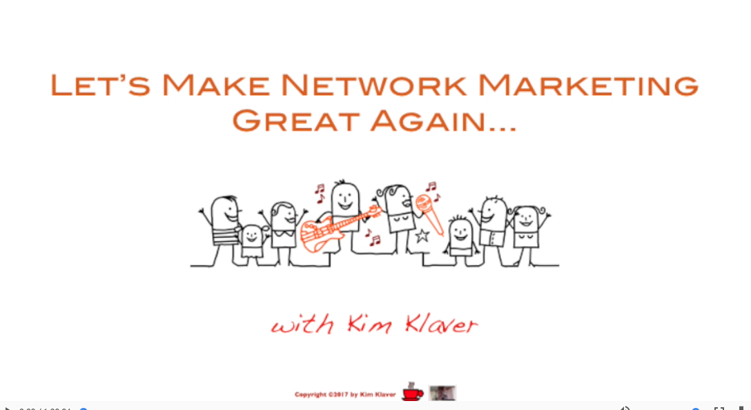Make Network Marketing Great Again - Kim Klaver